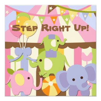 Step Right Up Circus Birthday Invitation