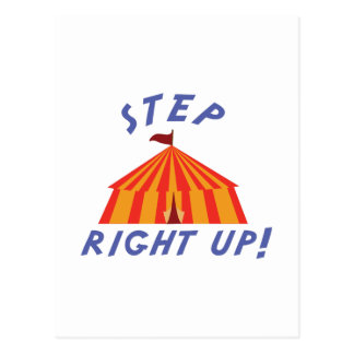 Step Right Up Postcard