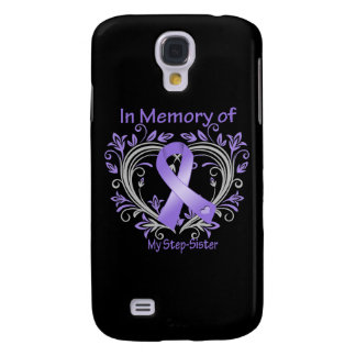Step-Sister - In Memory Heart Ribbon Hodgkins Dise Samsung Galaxy S4 Cover