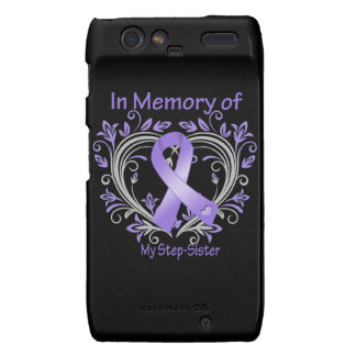 Step-Sister - In Memory Heart Ribbon Hodgkins Dise Droid RAZR Cover
