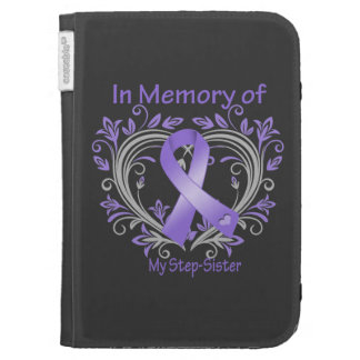 Step-Sister - In Memory Heart Ribbon Hodgkins Dise Kindle Cover