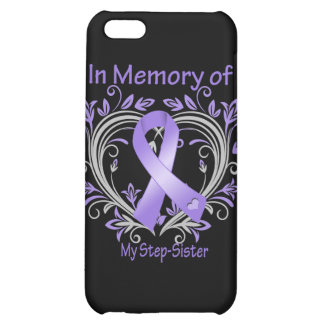 Step-Sister - In Memory Heart Ribbon Hodgkins Dise Case For iPhone 5C