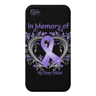 Step-Sister - In Memory Heart Ribbon Hodgkins Dise iPhone 4/4S Cover