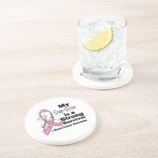 Step-Sister Strong Survivor Breast Cancer Beverage Coasters