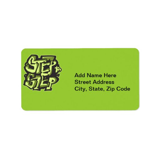 Step To Step Dance Personalized Address Labels