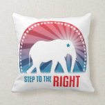 Step To The Right Throw Pillows