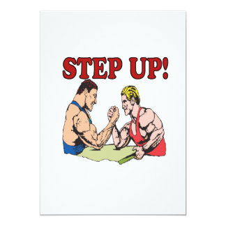 Step Up 5x7 Paper Invitation Card
