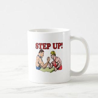 Step Up Classic White Coffee Mug