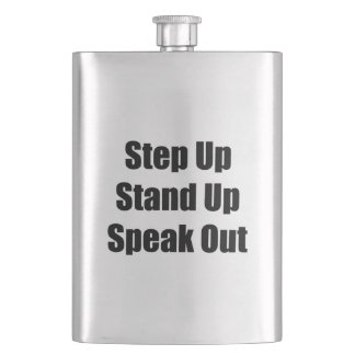 Step Up, Stand Up, Speak Out Flask