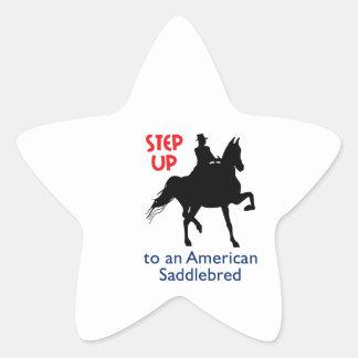 STEP UP TO A SADDLEBRED STAR STICKER