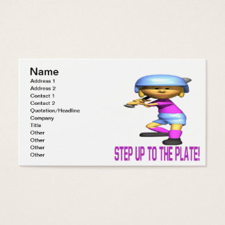 Step Up To The Plate Business Card