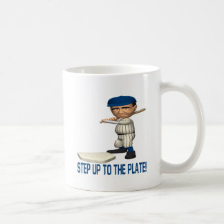 Step Up To The Plate Classic White Coffee Mug