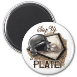 Step Up To The Plate! Magnet