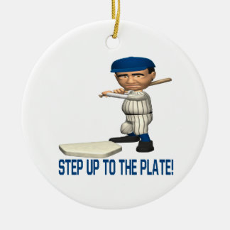 Step Up To The Plate Christmas Tree Ornament
