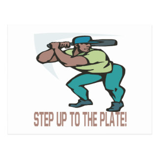 Step Up To The Plate Postcard