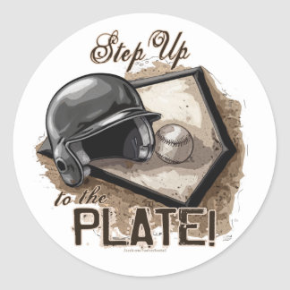 Step Up To The Plate Sticker