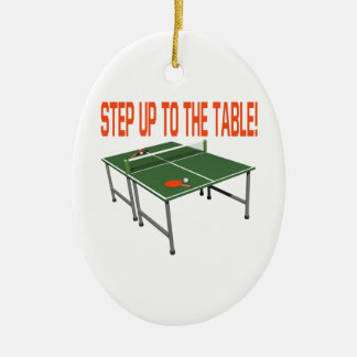 Step Up To The Table Ceramic Ornament