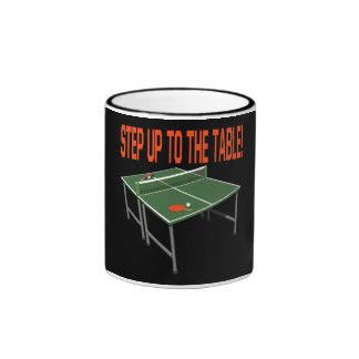 Step Up To The Table Ringer Coffee Mug