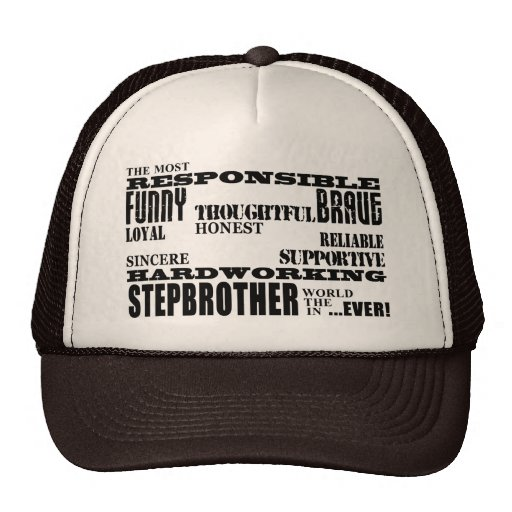 Stepbrothers Birthdays Parties Christmas Qualities Trucker Hat
