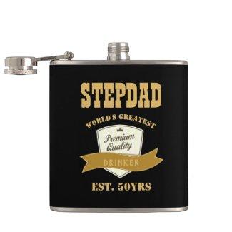 STEPDAD 50th Birthday FUNNY Drinker est. 50yrs Flask