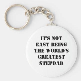 Stepdad Basic Round Button Keychain