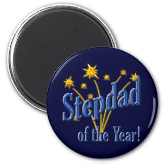 Stepdad of the Year! 2 Inch Round Magnet
