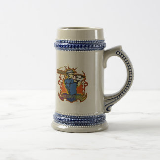 Stepfather Fathers Day Baseball Gifts Beer Stein