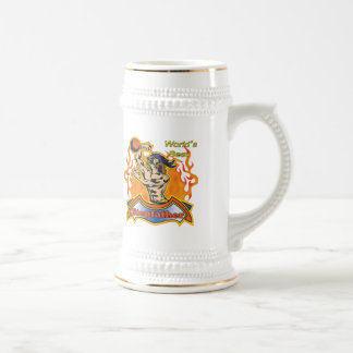 Stepfather Fathers Day Basketball Gifts Beer Stein