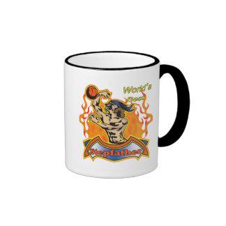 Stepfather Fathers Day Basketball Gifts Ringer Coffee Mug