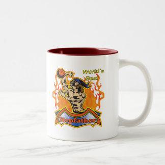 Stepfather Fathers Day Basketball Gifts Two-Tone Coffee Mug