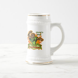 Stepfather Football T-shirts and Gifts Beer Stein