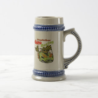Stepfather Gone Racing Gifts Beer Stein