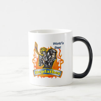 Stepfather Hockey Father's Day Gifts 11 Oz Magic Heat Color-Changing Coffee Mug