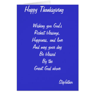 Stepfather thanksgiving cards