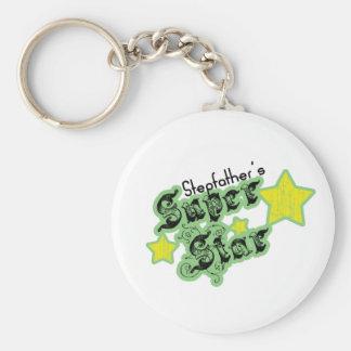 Stepfather's Super Star Basic Round Button Keychain