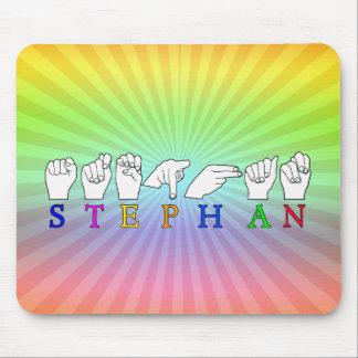 STEPHAN ASL FINGERSPELLED NAME SIGN MALE BOY MOUSE PAD