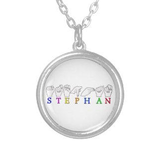 STEPHAN ASL FINGERSPELLED NAME SIGN MALE BOY PENDANTS