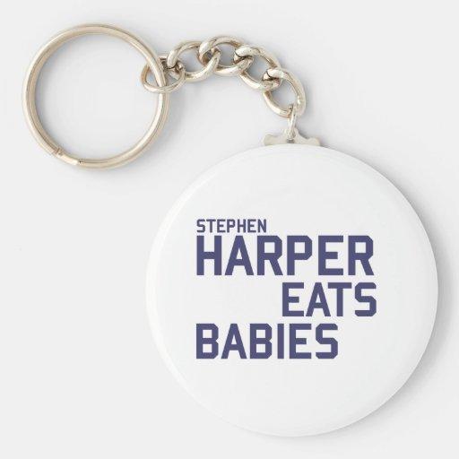 Stephan Harper come a bebés Llavero Redondo Tipo Pin