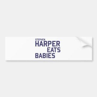 Stephan Harper come a bebés Pegatina Para Auto