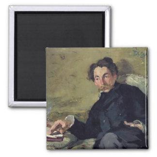 Stephane Mallarme  1876 2 Inch Square Magnet