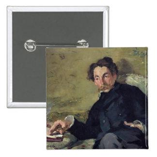 Stephane Mallarme  1876 Button