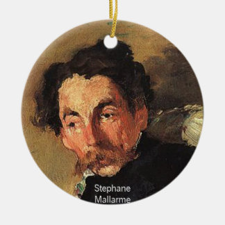 Stephane Mallarme Ceramic Ornament