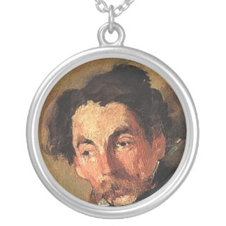 Stephane Mallarme Round Pendant Necklace