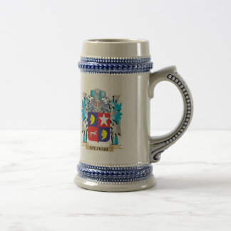 Stephani Coat of Arms - Family Crest 18 Oz Beer Stein