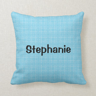 STEPHANIE Aqua Squares Custom Name Gift Collection Pillows