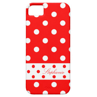Stephanie - Cute Polka Dots With Your Name - iPhone 5 Covers