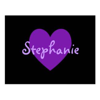 Stephanie en púrpura postal