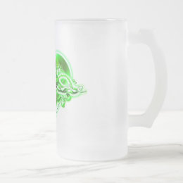 Stephanie Frosted Glass Beer Mug