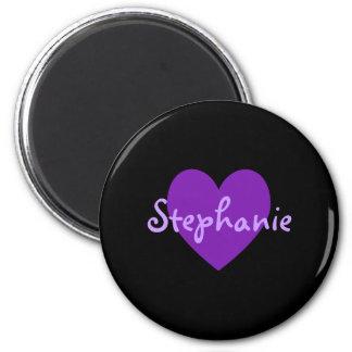 Stephanie in Purple 2 Inch Round Magnet