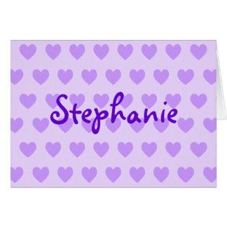 Stephanie in Purple Greeting Card